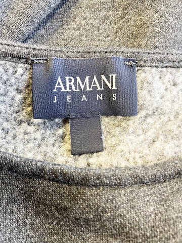 ARMANI JEANS DARK GREY LONG SLEEVE SWEATSHIRT SIZE 44 UK 10/12