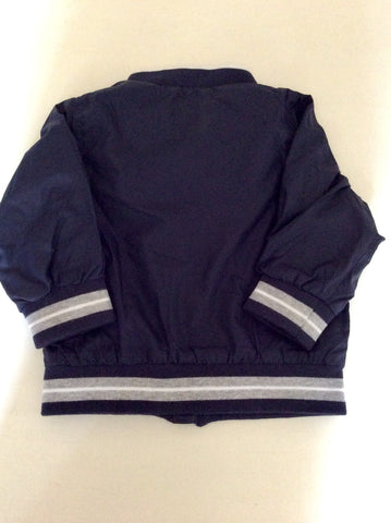 TIMBERLAND DARK BLUE ZIP UP JACKET AGE 9 MONTHS