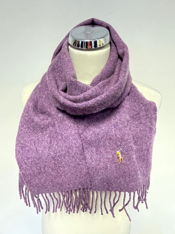 RALPH LAUREN POLO HEATHER 100% WOOL SCARF