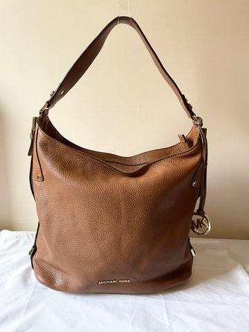 MICHAEL KORS TAN LEATHER LARGE SHOULDER BAG
