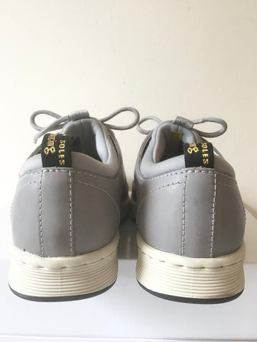 BRAND NEW DR MARTEN SOLARIS GREY LEATHER & TEXTILE LACE UP SNEAKERS SIZE 4/37