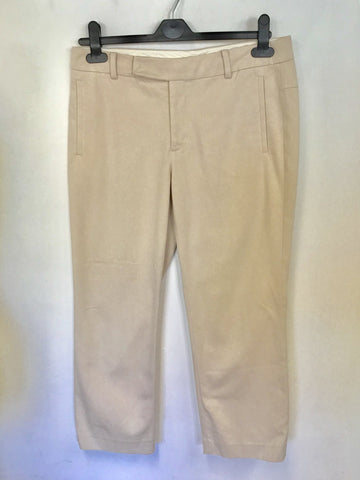 STILLS NUDE/ BLUSH COTTON CROP TROUSERS SIZE 10