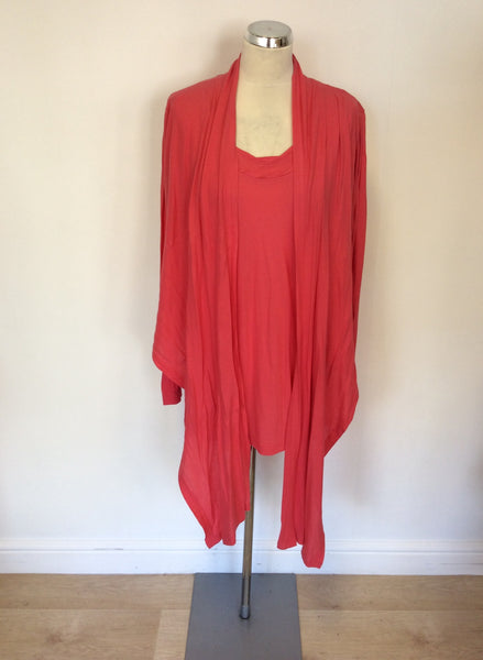 SANDWICH CORAL PINK TOP & MATCHING CARDIGAN SIZE M