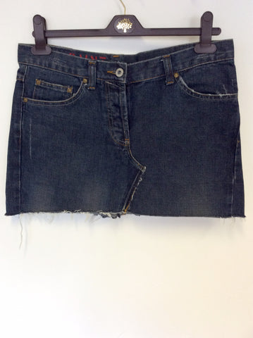 ALL SAINTS BLUE DENIM MINI SKIRT SIZE M/L