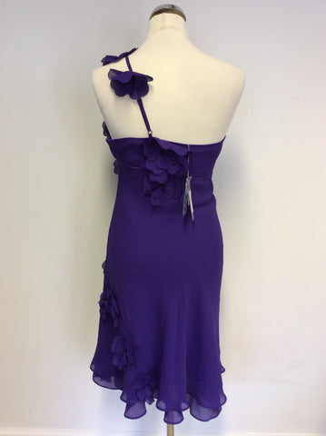 Brand New Debut Purple Strappy Flower Trim Dress Size 6