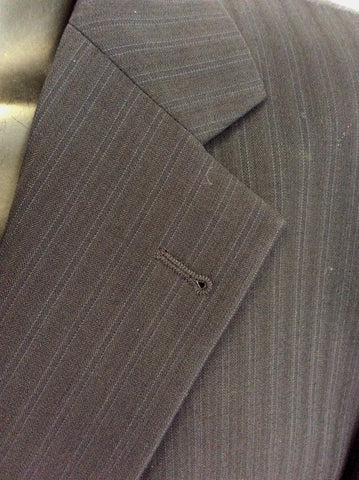 ROY ROBSON DARK BLUE PINSTRIPE WOOL SUIT SIZE 46L/ 40W