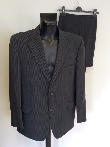 ROY ROBSON CHARCOAL GREY PINSTRIPE WOOL SUIT SIZE 46L/ 40W