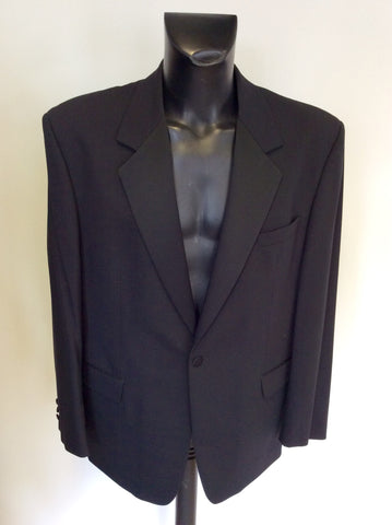 KINGSTON MENSWEAR BLACK TUXEDO SUIT SIZE 46R / 40W