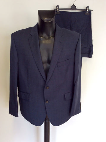 BRAND NEW MARKS & SPENCER LUXURY INDIGO BLUE WOOL SUIT SIZE 46S/ 42W