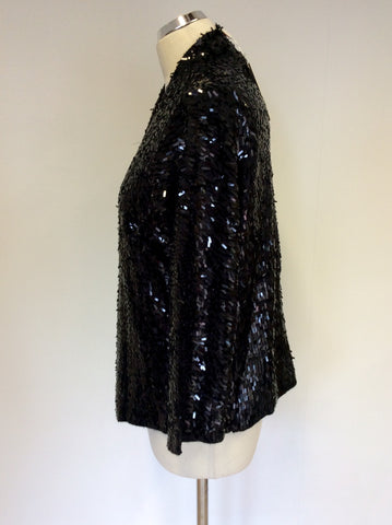 BRAND NEW MONSOON BLACK SEQUINNED CARDIGAN / JACKET SIZE L