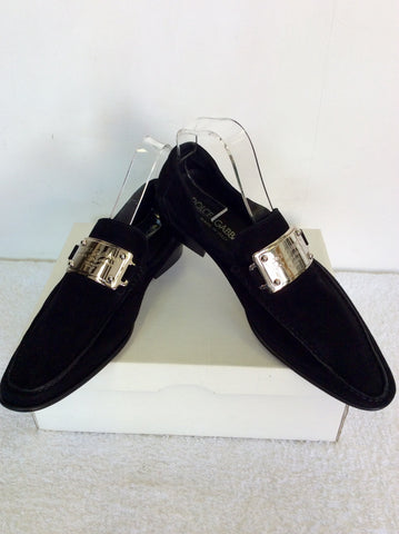 BRAND NEW DOLCE & GABBANA BLACK SUEDE SLIP ON SHOES SIZE 6/40