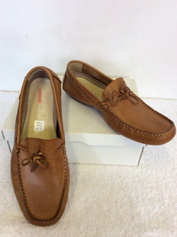 BRAND NEW SURF TAN LEATHER MOCCASIN SHOES SIZE 9/43