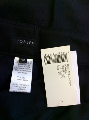 BRAND NEW JOSEPH BLACK WOOL TROUSERS SIZE 12