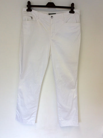 BRAND NEW RALPH LAUREN WHITE COTTON TROUSERS SIZE 16