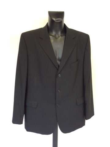 TED BAKER ENDURANCE BLACK WOOL SUIT JACKET SIZE 48R
