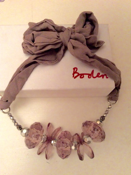 BODEN FAWN BEADED TIE FASTEN NECKLACE