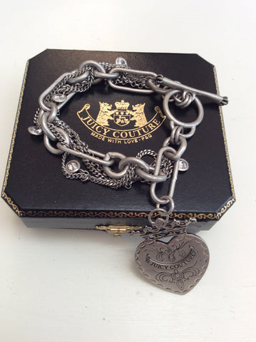 JUICY COUTURE CHAIN BRACELET WITH HANGING HEART