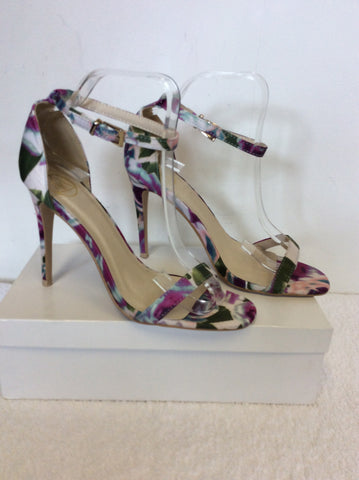 BRAND NEW M MULTI COLOURED FLORAL PRINT STRAPPY SANDALS SIZE 6/39