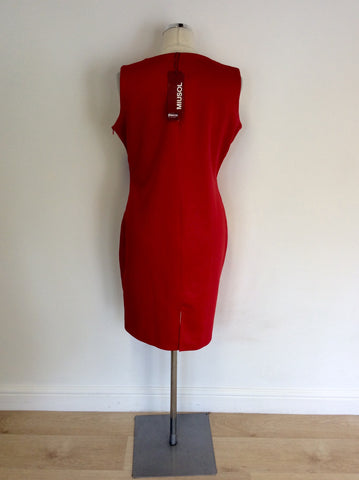 BRAND NEW MIUSOL RED PENCIL DRESS SIZE XL UK 18