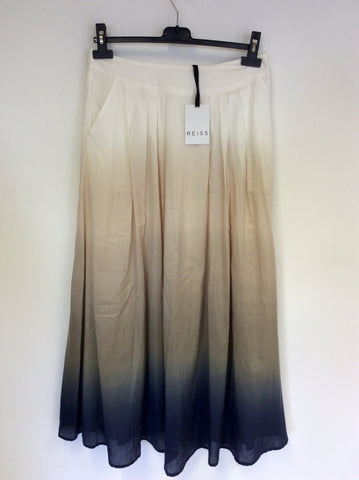 BRAND NEW REISS NAVEEN PRINTED MAXI SKIRT IN STONE SIZE 8