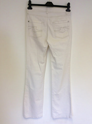 HUGO BOSS IVORY COTTON STRAIGHT LEG JEANS SIZE W28 / 32L