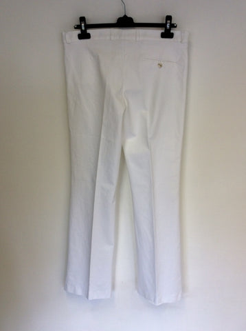 JOSEPH WHITE COTTON TROUSERS SIZE 44 UK 16