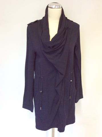 BRAND NEW THE VINTAGE BOUTIQUE NAVY BLUE SUMMER JACKET SIZE 6
