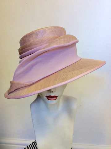 GINA BACCONI PALE PINK FORMAL HAT ONE SIZE