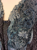 TUSCANY GREEN & GREY LACE EMBROIDERED TRIM MATCHING OUTFIT SIZE XXXL