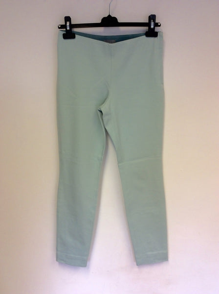 COS MINT GREEN STRETCH COTTON TROUSERS SIZE 12