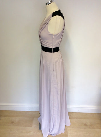 BRAND NEW ARMANI EXCHANGE NUDE & BLACK TRIM MAXI DRESS SIZE 0 UK 4