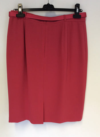 BETTY BARCLAY CORAL STRAIGHT SKIRT & JACKET SUIT SIZE 14