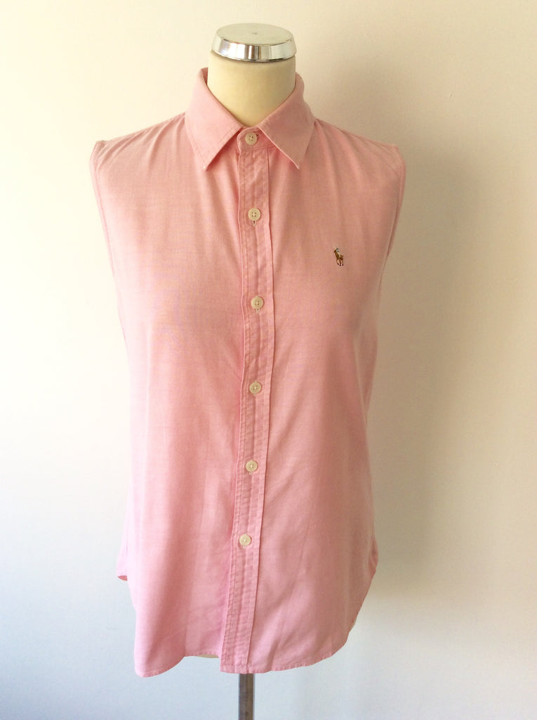 286ddae7844 RALPH LAUREN POLO SPORT PINK SLEEVELESS SHIRT SIZE 12 – Whispers ...