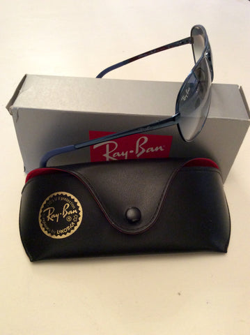 RAY-BAN DARK BLUE NEW AVIATOR SUNGLASSES