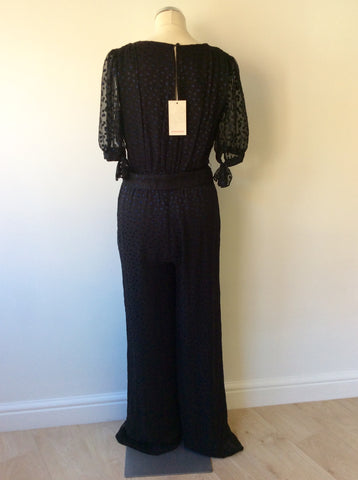 BRAND NEW MONSOON BLACK & BLUE SILK BLEND JUMPSUIT SIZE 10