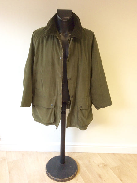 BARBOUR DARK GREEN BEAUFORT JACKET SIZE XXL - Whispers Dress Agency - Mens Coats & Jackets - 1