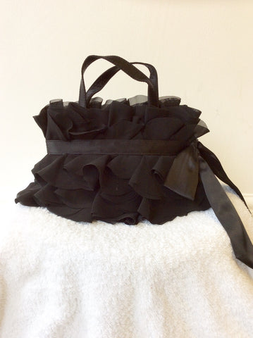 COAST BLACK TIERED FRILL EVENING/ SPECIAL OCCASION BAG