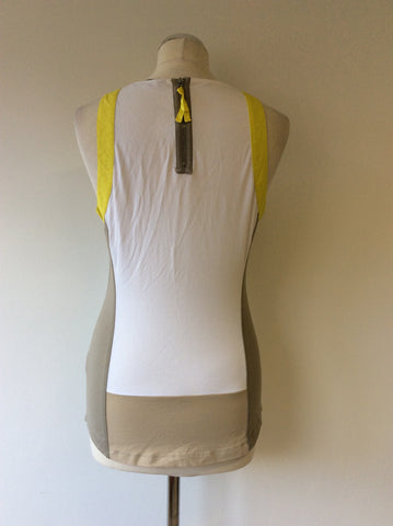 KAREN MILLEN COLOUR BLOCK VEST TOP SIZE 14