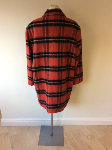 LIZ CLAIBOURNE RED CHECK WOOL BLEND COAT SIZE M - Whispers Dress Agency - Womens Coats & Jackets - 3