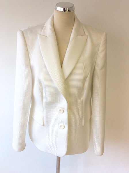 BETTY BARCLAY COLLECTION WHITE JACKET SIZE 18 - Whispers Dress Agency - Sold - 1