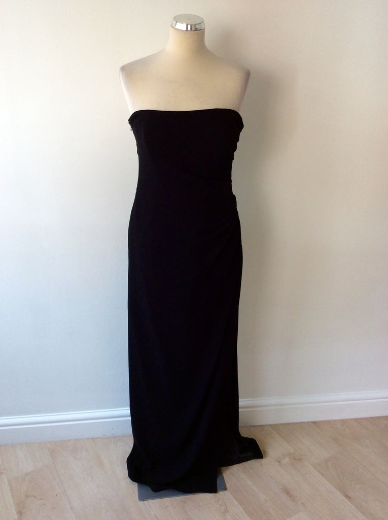 665ddc971df3 BRAND NEW COAST BLACK STRAPPY/STRAPLESS LONG EVENING DRESS SIZE 12 -  Whispers Dress Agency