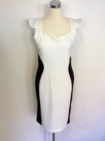 BRAND NEW AMY CHILDS BLACK & WHITE BODYCON DRESS SIZE 14