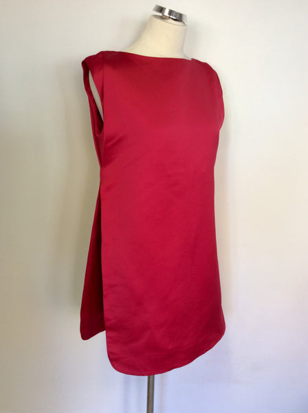 BRAND NEW COS CHERRY RED LAYERED TUNIC DRESS SIZE 38 UK 10