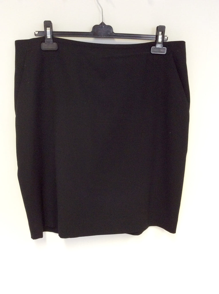 d5a3b40bf79f8 JAEGER BLACK WOOL PENCIL SKIRT SIZE 18 - Whispers Dress Agency - Womens  Skirts - 1
