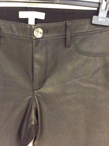BANANA REPUBLIC SLOAN BLACK FAUX LEATHER JEGGINGS/TROUSERS SIZE 8 UK 12 - Whispers Dress Agency - Womens Trousers - 2
