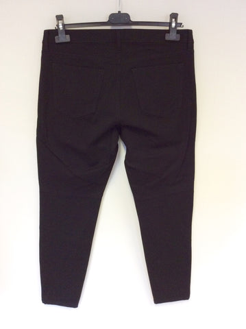 BANANA REPUBLIC SLOAN BLACK FAUX LEATHER JEGGINGS/TROUSERS SIZE 8 UK 12 - Whispers Dress Agency - Womens Trousers - 3