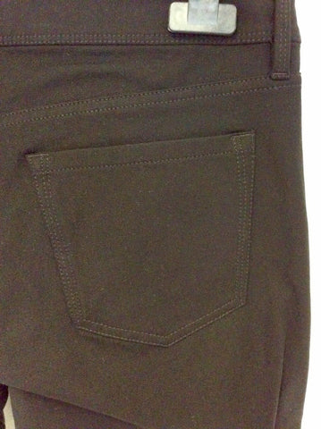BANANA REPUBLIC SLOAN BLACK FAUX LEATHER JEGGINGS/TROUSERS SIZE 8 UK 12 - Whispers Dress Agency - Womens Trousers - 4