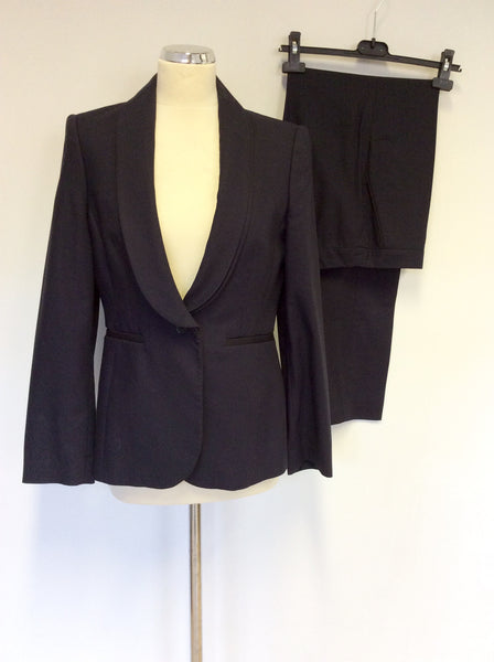 Austin Reed Signature Dark Blue Trouser Suit Size 12 Whispers Dress Agency