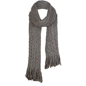 ALL SAINTS BROWN LUXURY ALPACA BLEND SCARF