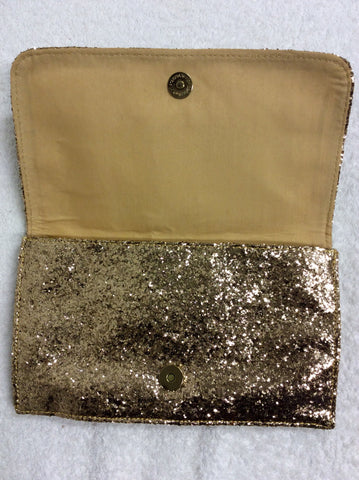 BRAND NEW SOAKED IN LUXURY GOLD GLITTER CLUTCH BAG - Whispers Dress Agency - Clutch Bags - 2